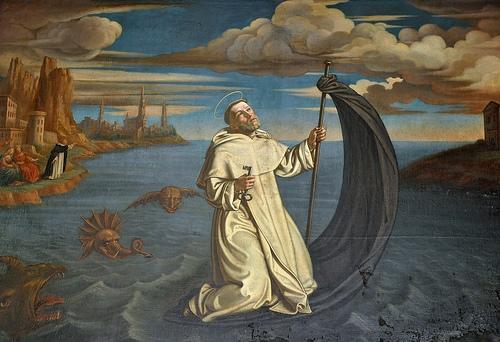 Święty Rajmund z Peñafort przepływa przez Morze Śródziemne