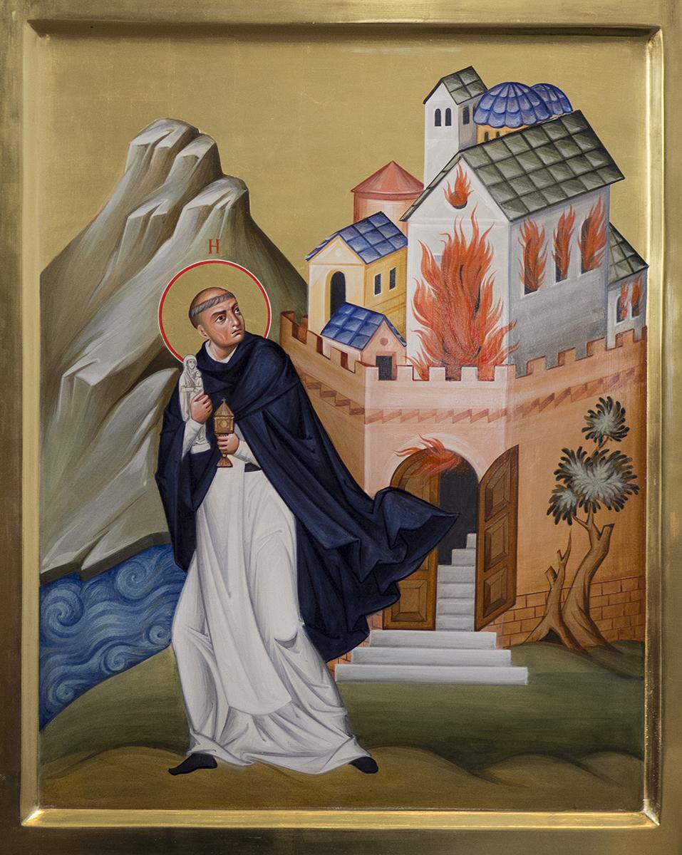 Jak suchą stopą przeszedł przez Dniepr, niosąc alabastrową figurę Chwalebnej Dziewicy